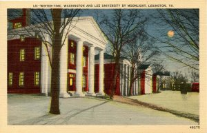 VA - Lexington. Washington & Lee University by Moonlight in Winter