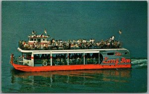 1960s Lake of the Ozarks, MO Advertising Postcard THE LARRY DON Excursion Boat