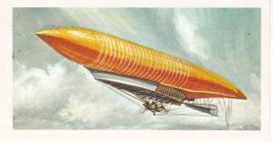 Trade Card Brooke Bond Tea History of Aviation black back reprint No 3