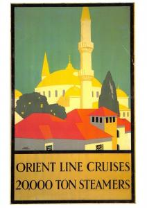 Postcard Orient Line Cruises, 20,000 Ton Steamers Repro Advertising Card F36