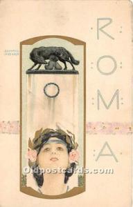 Artist Raphael Kirchner Old Vintage Postcard Roma Nurnberg Theo Stroeters Kun...
