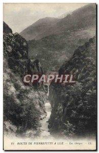 Old Postcard Route De Pierrefitte At Luz Gorge