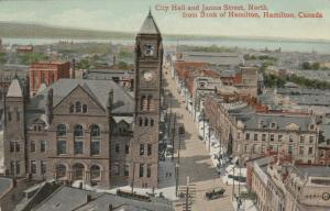 HAMILTON , Ontario , 1910 ; City Hall & James Street