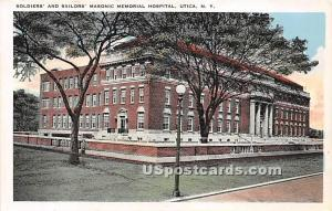 Soldiers' Masonic Memorial Hospital Utica NY Unused
