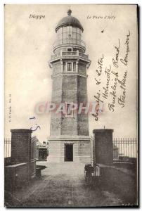 Old Postcard lighthouse & # 39Ailly Dieppe