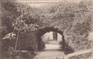 A Walk In Delaware Park, BUFFALO, New York, PU-1906