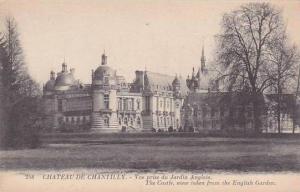 France Chantilly Chateau Vue prise du Jardin Anglais