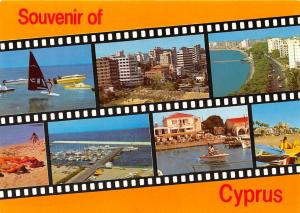 Cyprus multiviews Harbour Boats Beach Promenade Surfer Panorama