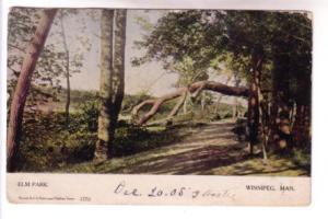Elm Park, Winnipeg, Manitoba, Warwick 1770, Dacotah Manitoba Split Ring Cancel