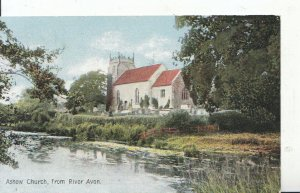 Warwickshire Postcard - Ashow Church from River Avon - Ref 4341A