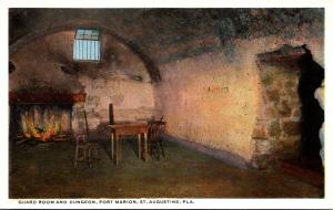 Florida St Augustine Fort Marion Guard Room and Dungeon Curteich