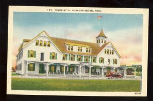 Falmouth Heights, Massachusetts/Mass/MA Postcard, Tower Hotel, Cape Cod