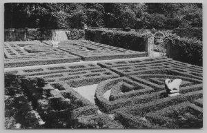 Monticello IL~The Maze Garden~Robert Allerton Park~Statuary~Vintage Postcard