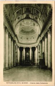 CPA Republica Di S. Marino Interno della Cattedrale SAN MARINO (801926)