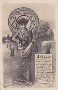 Month Of The Year July Glamorous Lady 1903