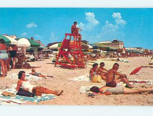 Unused Pre-1980 SCENE AT BEACH Ocean City Maryland MD M6512-23
