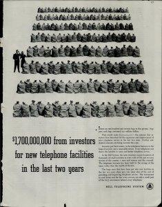 1948 Bell Telephone $1,7000,000,000 Investors 2 years Vintage Print Ad 3750
