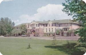 View of the well known Olds Agricultural School in Olds, Alberta, Canada, 40-60s