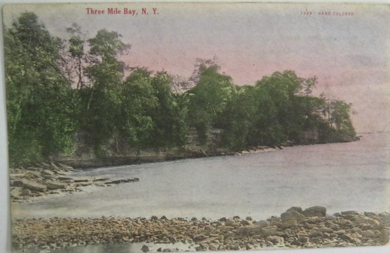 Three Mile Bay New York Advertising Card