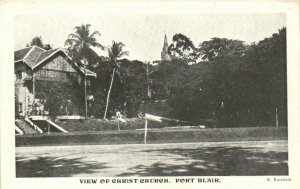 PC CPA PAPUA NEW GUINEA, PORT BLAIR, VIEW OF CHRIST CHURCH, Postcard (b19772)