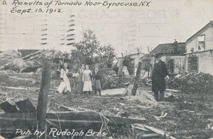 Disaster - 1912 Tornado Results near Syracuse NY - pm 1912 Pub Rudolph Brothers