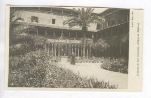 RP  Monk in courtyard, Claustro de San Francisco,-Palma de Mallorca, Spain, 0...