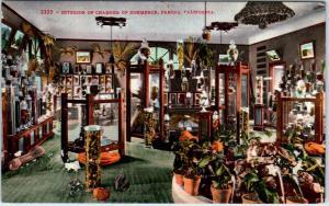 FRESNO, CA California Chamber of COMMERCE Interior   c1910s    Postcard