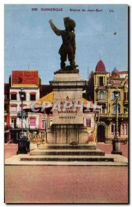 Old Postcard Dunkirk Statue of Jean Bart