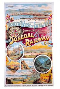 Vintage Repro Travel Poster Postcard North West Ireland, The Donegal Railway