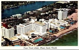 Florida Miami Beach Ocean Front Hotels Aerial View