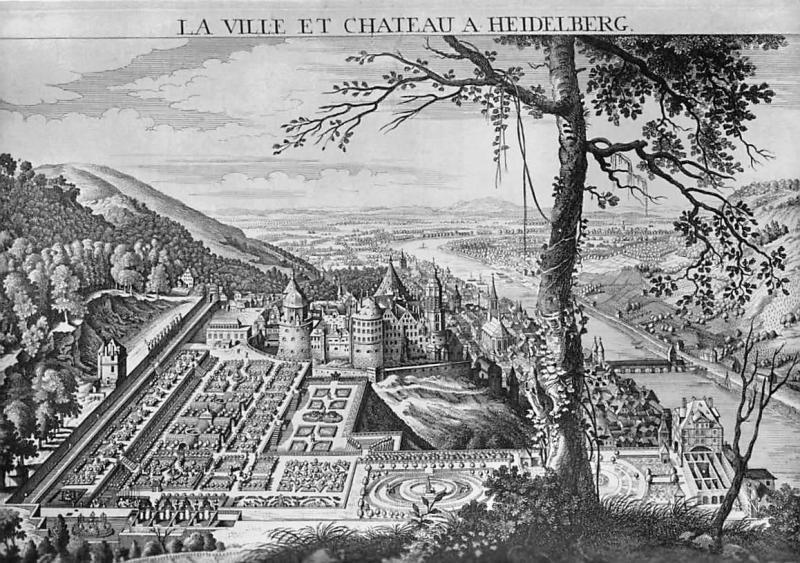 Hortus Palatinus Kupferstich von Balth. Frederic Leixel Heidelberg ...