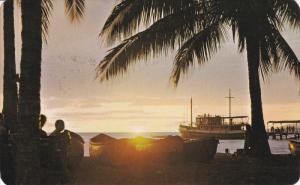 Sunset at El Sol Beach, PUERTO VALLARTA, Mexico, PU-1972