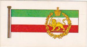 Vintage Trade Card Brooke Bond Tea Flags and Emblems Of The World No 47 Iran