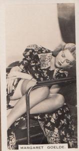 Margaret Goelde Hollywood Actress Rare Real Photo Cigarette Card