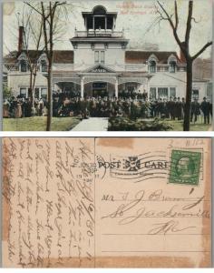 OZARK BATH HOUSE HOT SPRINGS ARK 1911 ANTIQUE POSTCARD