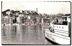 Old Postcard In Cannes Port and Suquet