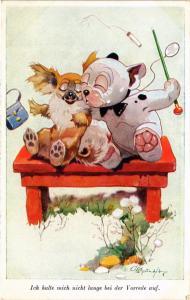 CPA Studdy BONZO dog No. 2553 ICH HALTE MICH NICHT LANGE (305772)