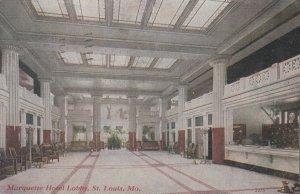 ST. LOUIS, Missouri, 1911 ; Marquette Hotel Lobby