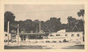 Edgewater FL The Ship Restaurant & Cottages Postcard