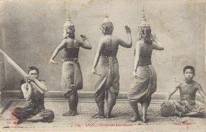 Vietnam Laos Danseuses Laotiennes Indochine 03.76
