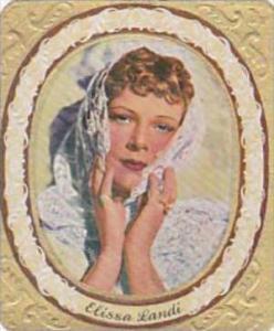 Garbaty Cigarette Card 1934 Modern Beauties No 282 Elissa Landi