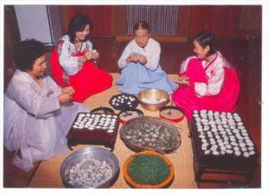 A Family Making Pine-Rice-Cake, Korea, South, 1950-1970s