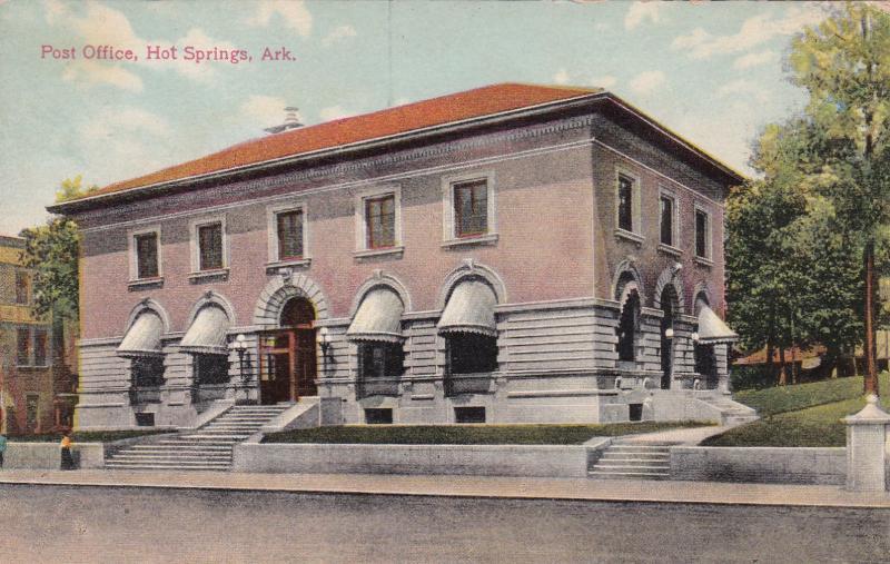 HOT SPRINGS, Arkansas, 1900-10s ; Post Office