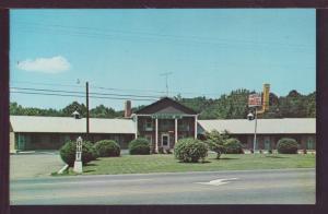 Plantation Motel Candler N.C. Post Card 3753