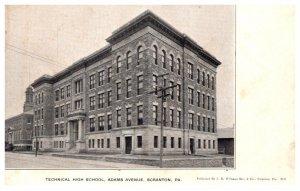 Pennsylvania   Scranton , Technical High School, Adams Avenue