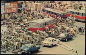 bangladesh, DACCA DHAKA, Street Scene, Bus Rickshaw (1970s)