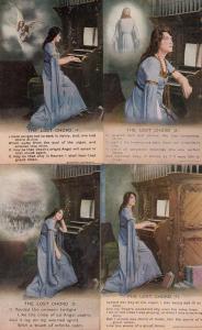 The Lost Chord Organ 4x Songcard Postcard s