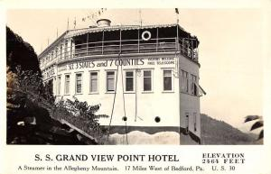 Allegheny Mt Pennsylvania SS Grand View Point Hotel Real Photo Postcard K96149