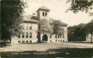 Wheaton Minnesota~High School~Real Photo Postcard c1914