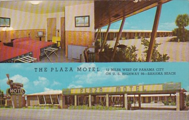 Florida Panama City The Plaza Motel At Bahama Beach 1960
